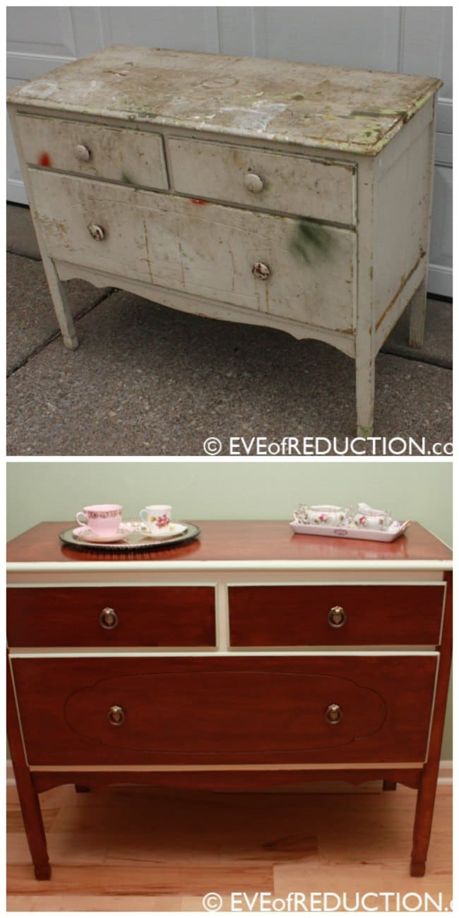 refinished furniture, thrifing, DIY, roadside rescue, curbside rescue, dumpster diving