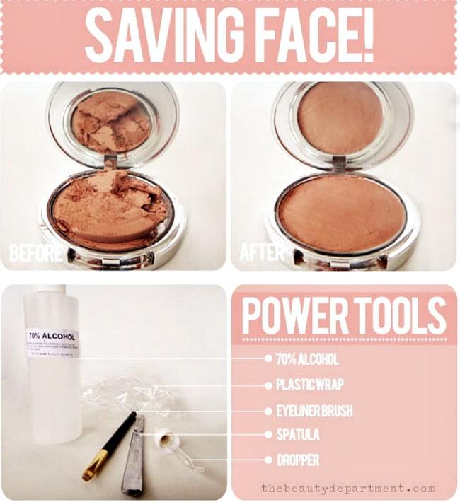 http://thebeautydepartment.com/2012/06/d-i-y-makeup-fixer-upper/