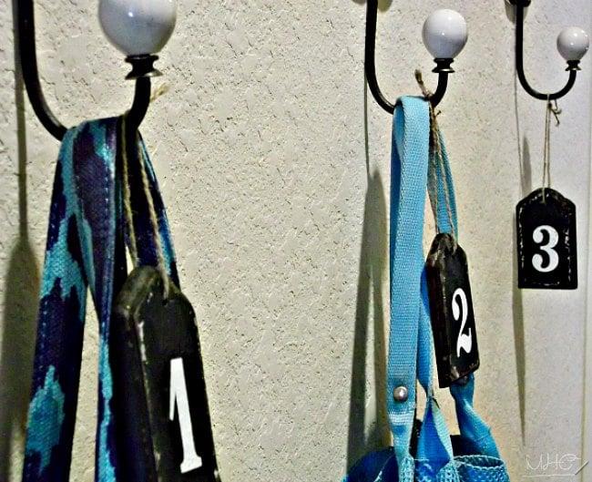 farmhouse decor, nautical number tags, decorative number tags, decorating with numbers
