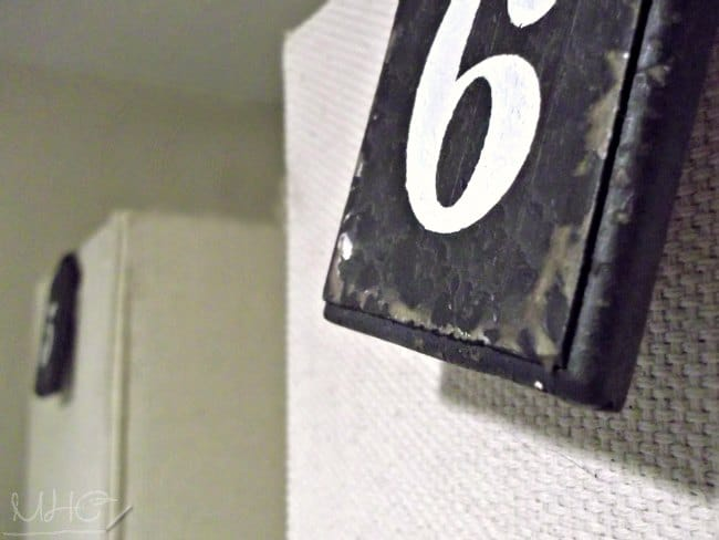 farmhouse decor, number tags, decorating with numbers, decorative numbers, nautical number tags, home decor