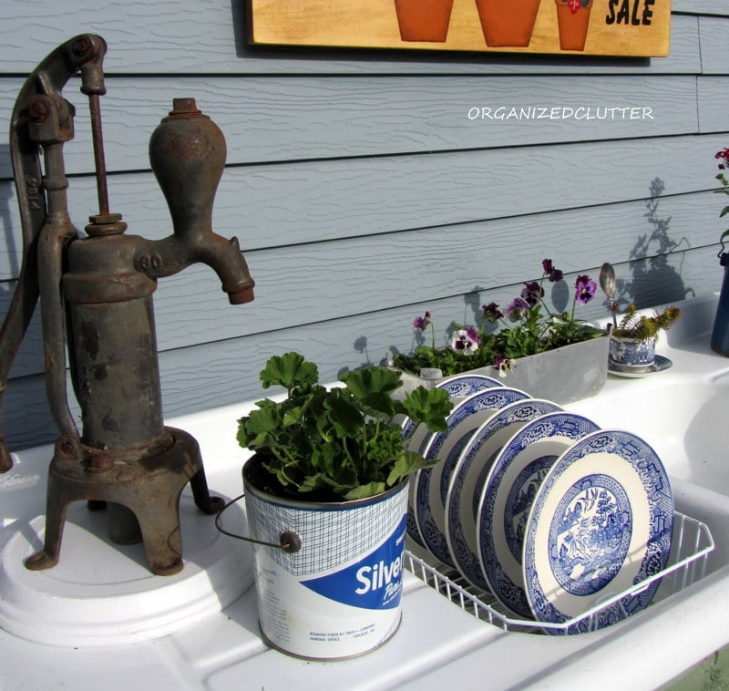 Potting Bench turned Outdoor Kitchen / Discover more New Uses for Old Things at www.sharonehines.com