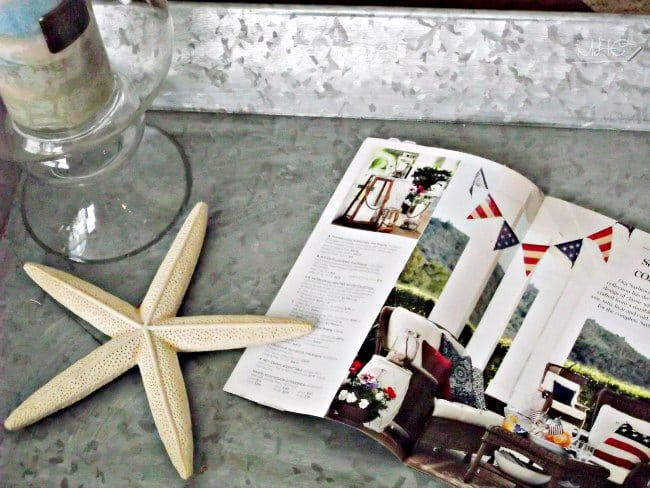 home decor, summer decor, seasonal decor, nautical decor, beach decor, vignette, home accents