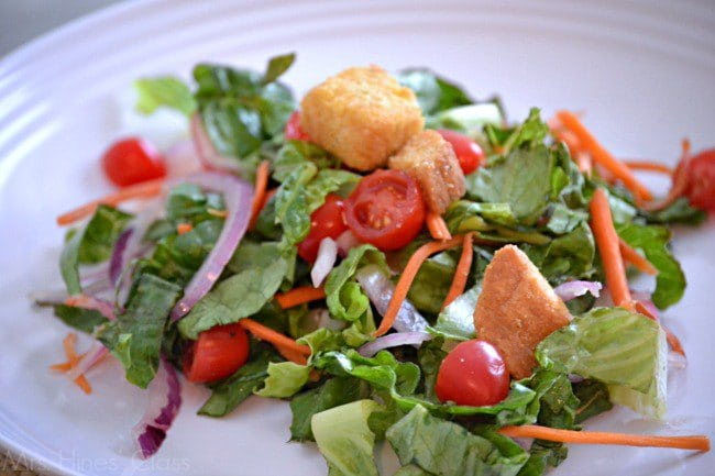 Get the recipe for my copycat Olive Garden salad at www.sharonehines.com