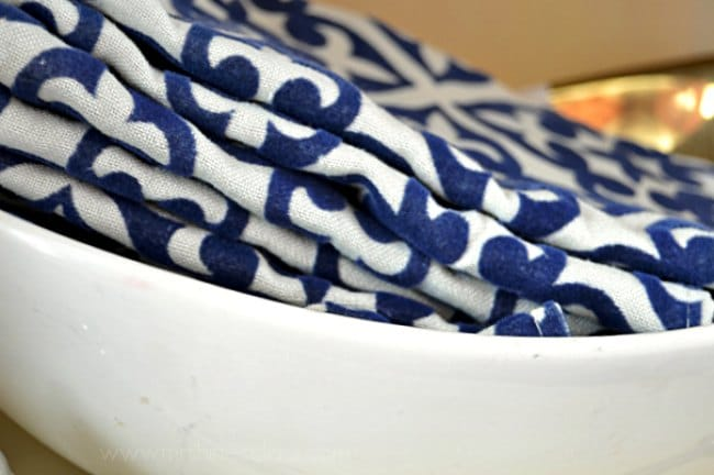 Store your table linens in style. Visit www.sharonehines.com for a clever idea for storing your cloth napkins.