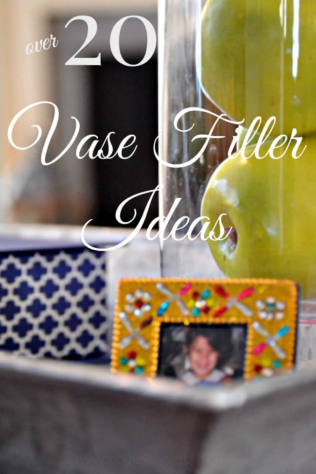 Vase fillers are a simple and inexpensive way to refresh your home each season. Get more than 20 of my favorite vase filler ideas at www.sharonehines.com