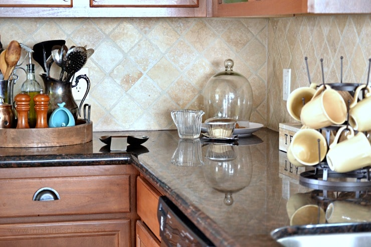 Do you ever struggle with keeping your kitchen pretty, but making it practical at the same time? I have, too, but have finally found the solution. Tour my kitchen to Discover my tips and #KohlerIdeas #ad at www.sharonehines.com