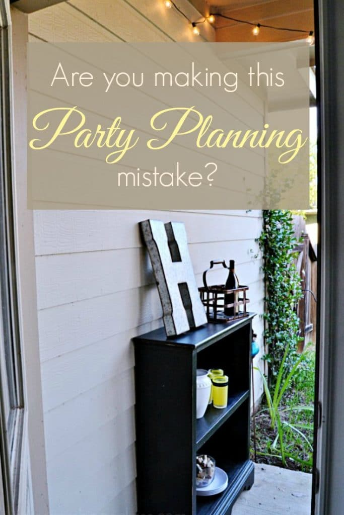 Are you making this party planning mistake? Find out at Sharon E. Hines (Hint: most of us are.)