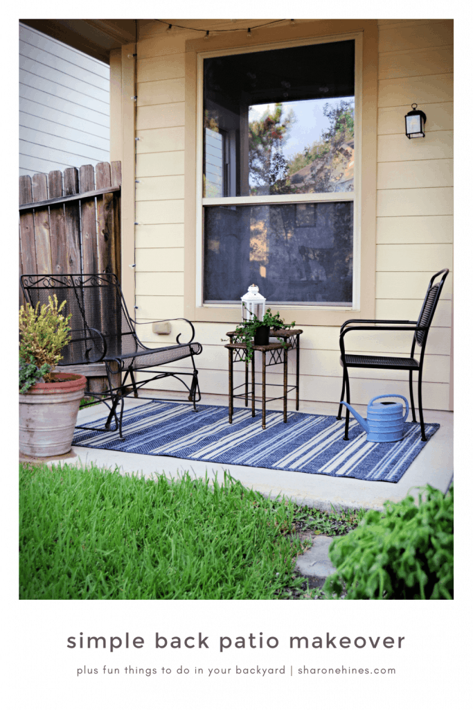 back patio makeover and fun things to do in your backyard