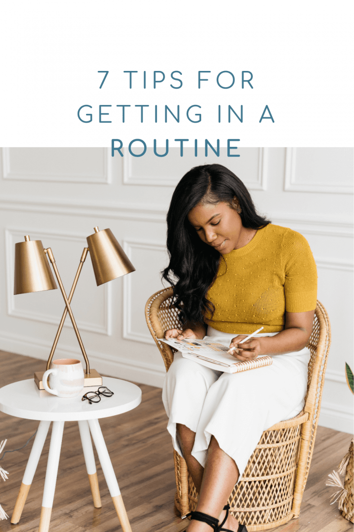 how to get back in a routine